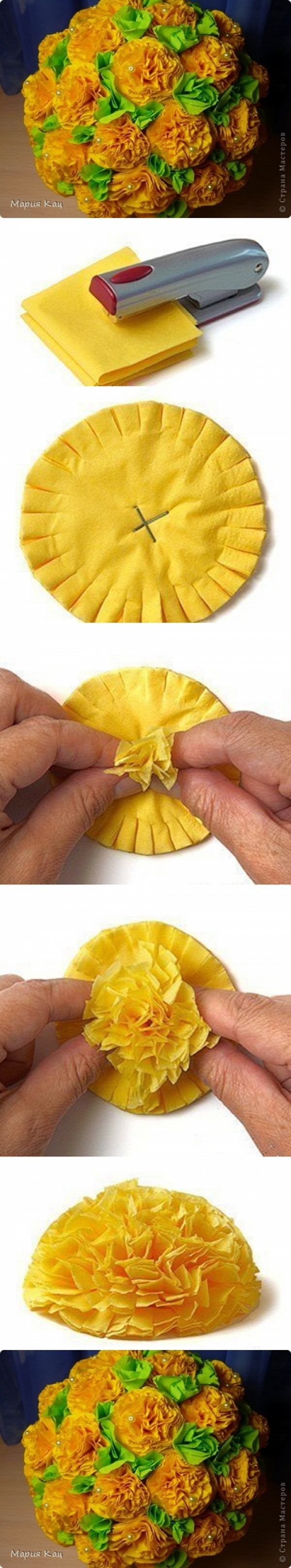papír tavasz papírvirág