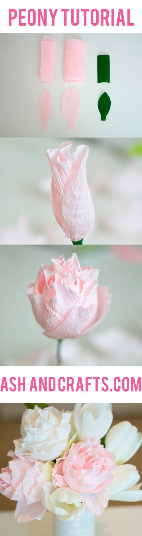 pünkösdi rózsa papírvirág pritt DIY