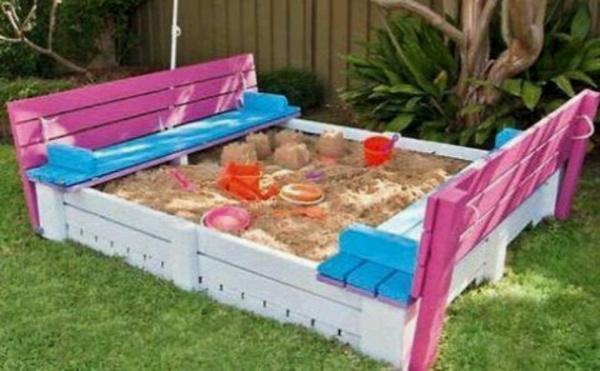 raklap raklapbútor nyár homokozó pad