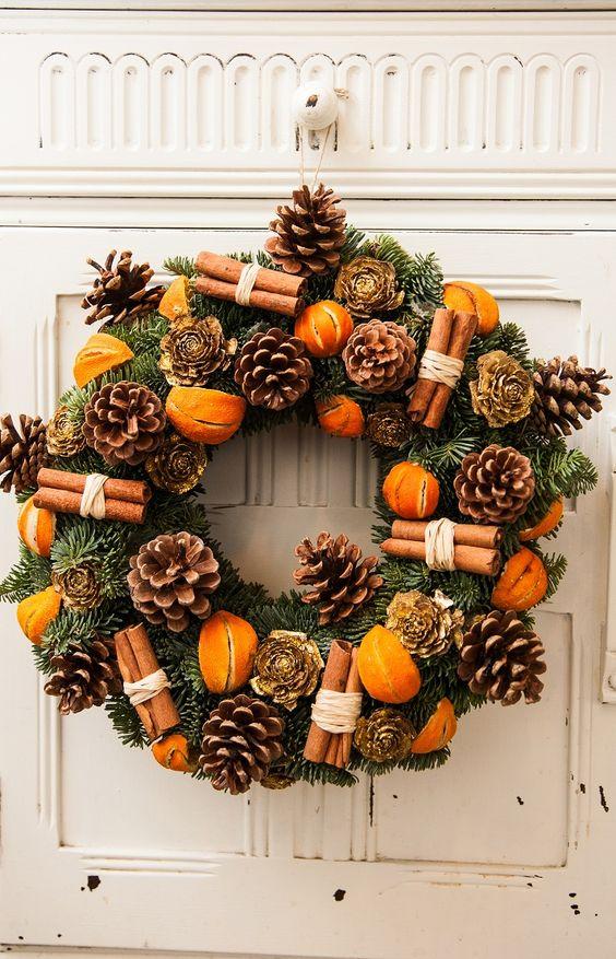dekoráció karácsony fahéj narancs