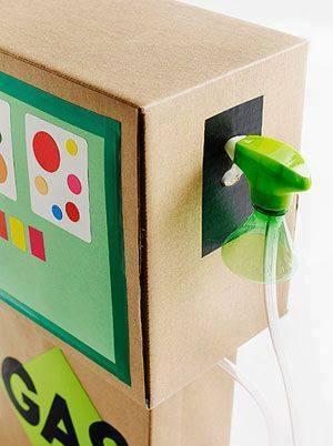 újrahasznosítás kartondoboz gyerekjáték kartonjáték