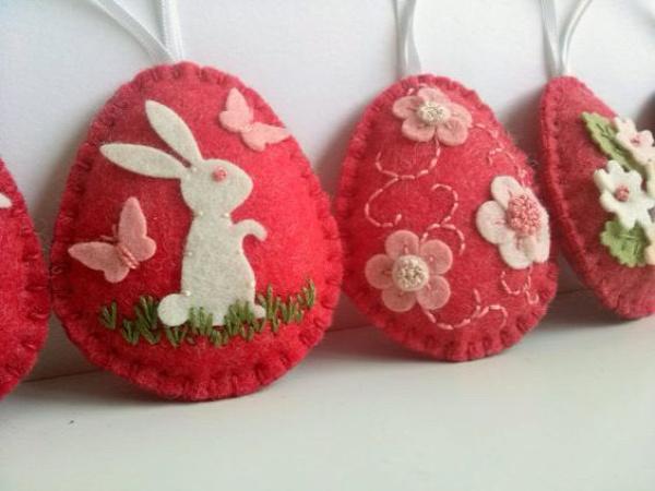 húsvét filcanyag filcdísz húsvéti dísz húsvéti tojás