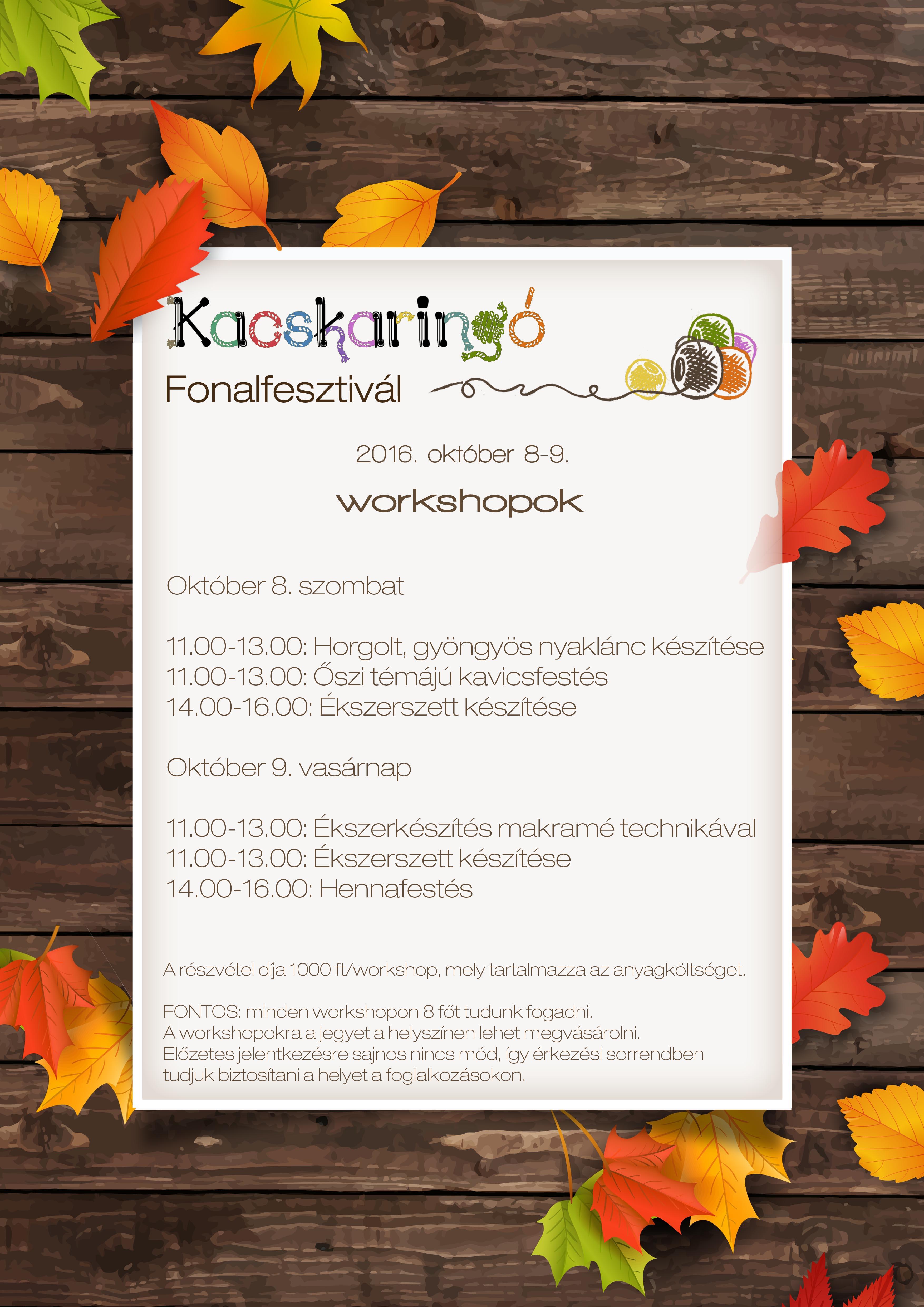 programajánló workshop