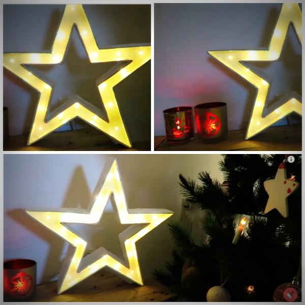 karácsony csillag világító csillag