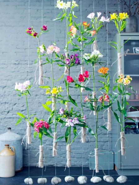 székbe ültretett virágok vétele