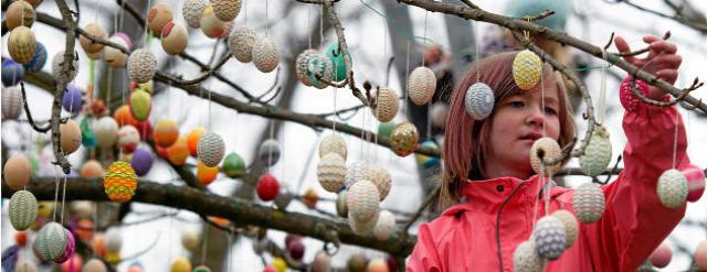 húsvét tojásfa hímes tojás