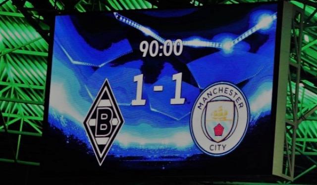 manchester city borussia mönchengladbach bajnokok ligája összefoglaló