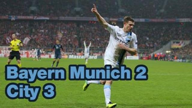 bajnokok ligája bayern münchen összefoglaló manchester city