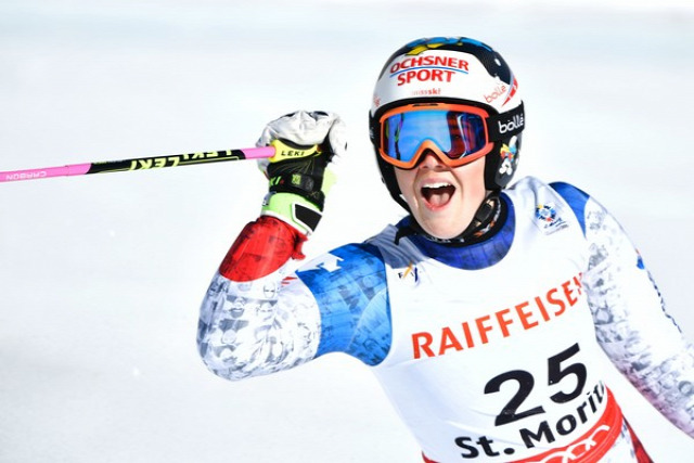 alpesi sí Alpesi Sí Világbajnokság óriás-műlesiklás Sankt Moritz Svájc Tessa Worley Mikaela Shiffrin