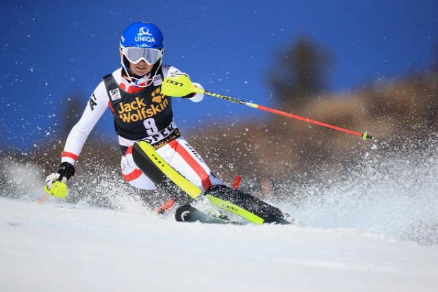 alpesi sí Aspen szlalom USA Petra Vlhová Mikaela Shiffrin Frida Hansdotter