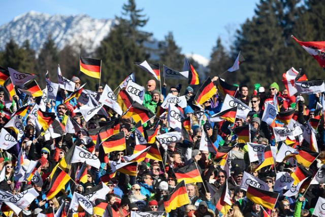 alpesi sí óriás-műlesiklás Garmisch-Partenkirchen Németország