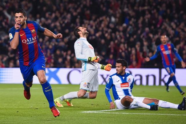 Iniesta Suárez Messi odabasz Espanyol bajnoki értékelő