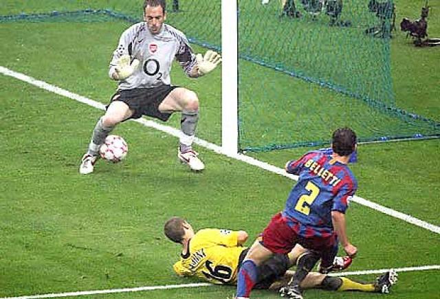 Barcelona Bajnokok Ligája Henrik Larsson Belletti Eto'o