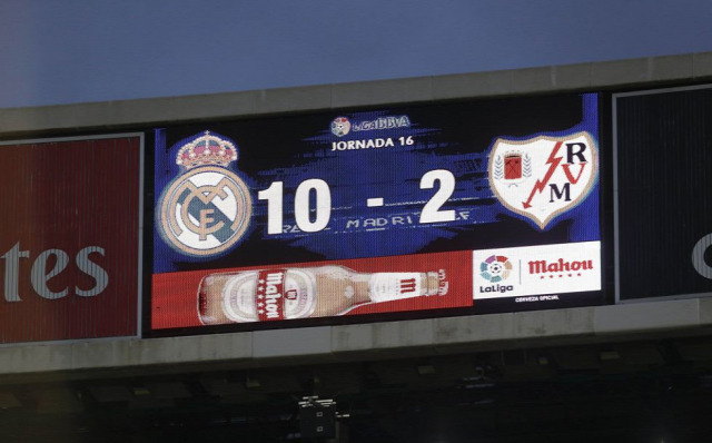 Real Madrid Rayo Vallecano történelmi győzelem sztratoszférikus diadal La Liga