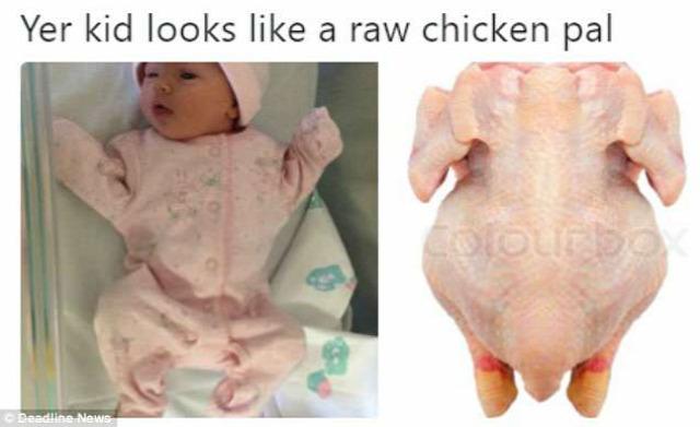 közösségi média prankster babafotók bontott csirke