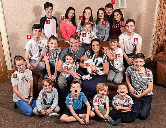 nagycsaládos nagy család sok gyerek radfordék