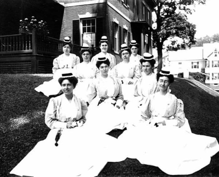 ápolónők nővérek kórház régi fotók