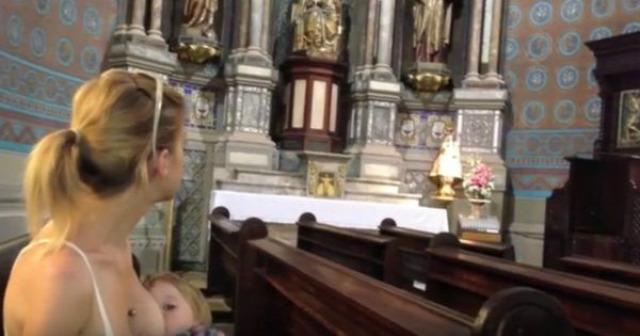 szoptatás templom egyház