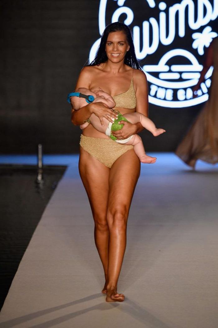 szoptatás modell divatbemutató