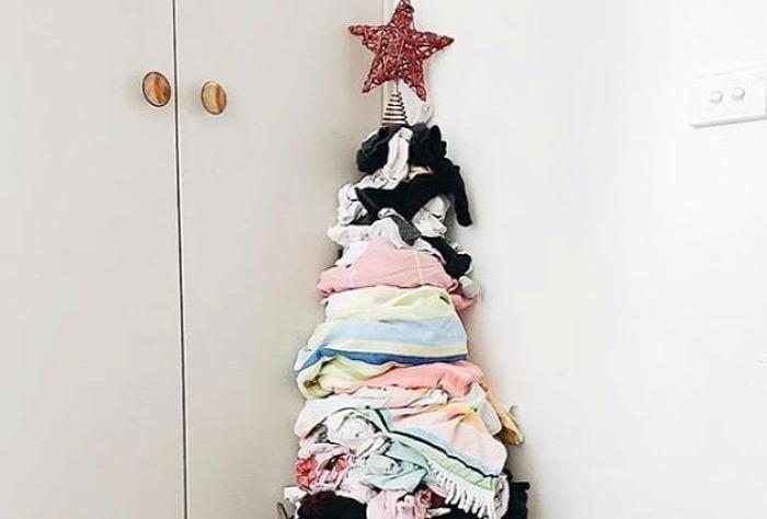 karácsonyfa szennyes kreatív diy
