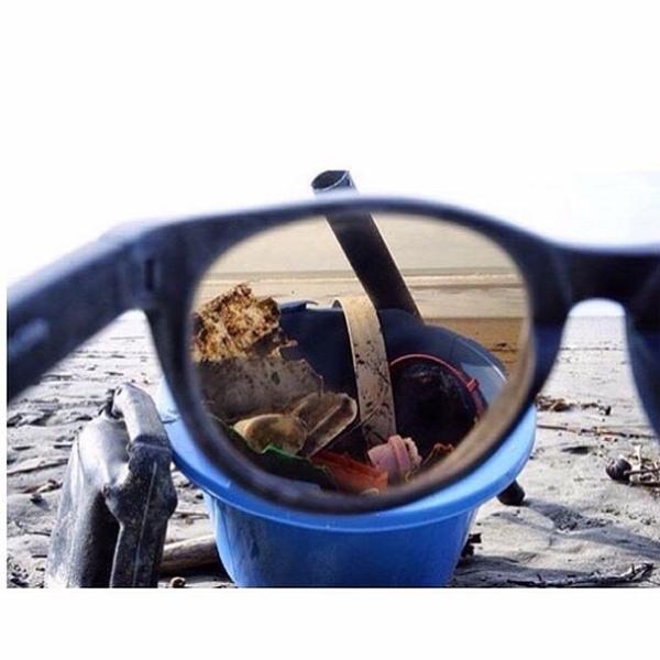 újrahasznosítás óceáni hulladék halászháló napszemüveg