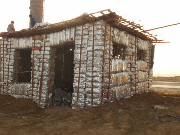 hulladékhasznosítás újrahasznosítás Pakisztán ökotudatos építkezés