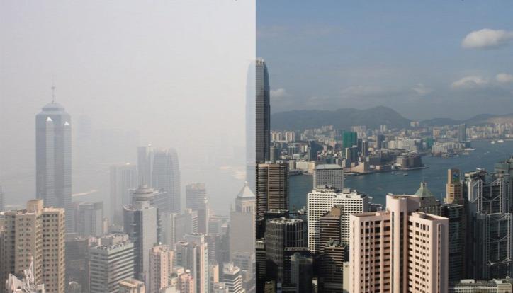 légszennyezés levegőminőségi térkép meteorológiai előrejelzés AirVisual
