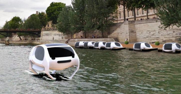 városi közlekedés környezetbarát közlekedés elektromos jármű Párizs SeaBubbles