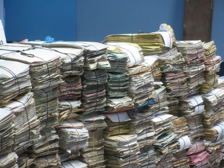 hulladék irodai papírhulladék selejtezés dokumentumkezelés környezetterhelés