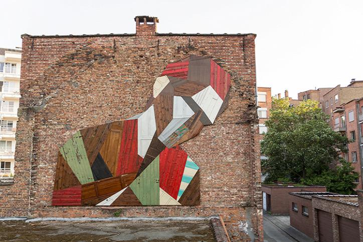 újrahasznosítás street art Strook The Crystal Ship köztéri művészet