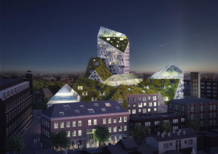 építészet fenntarthatóság Hollandia Eindhoven Nieuw Bergen városi életmód napenergia megújuló energia