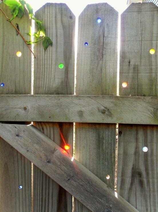 újrahasznosítás kert kerítés
