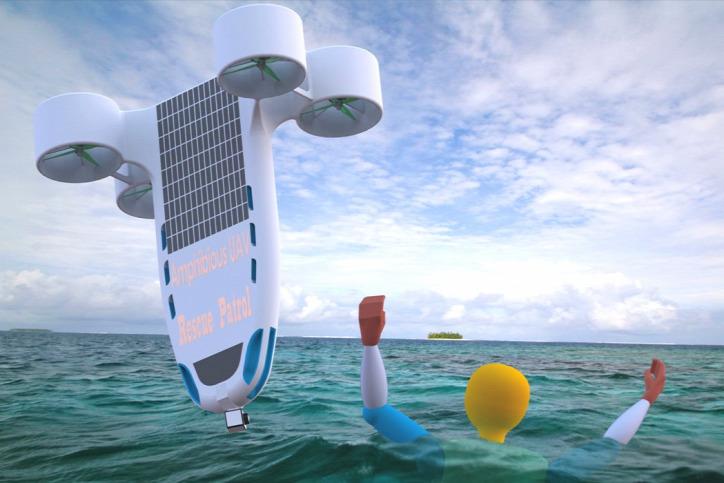 drón napenergia segítő robot búvárdrón