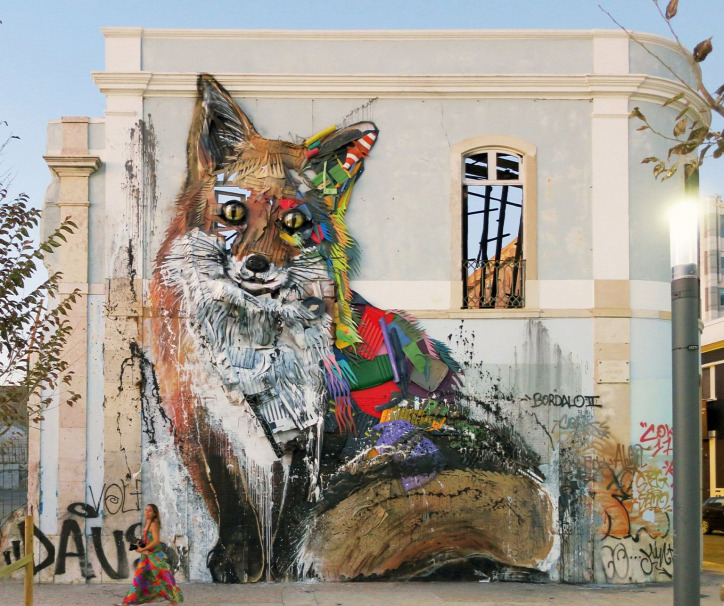 Bordalo II graffiti