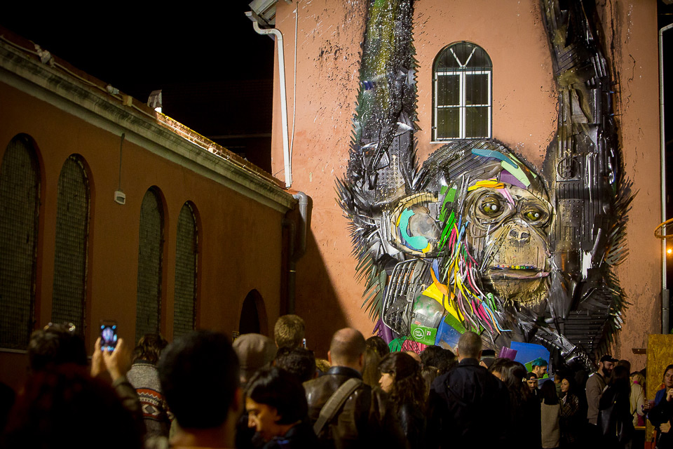 hulladék újrahasznosítás művészet Bordalo II Lisszabon