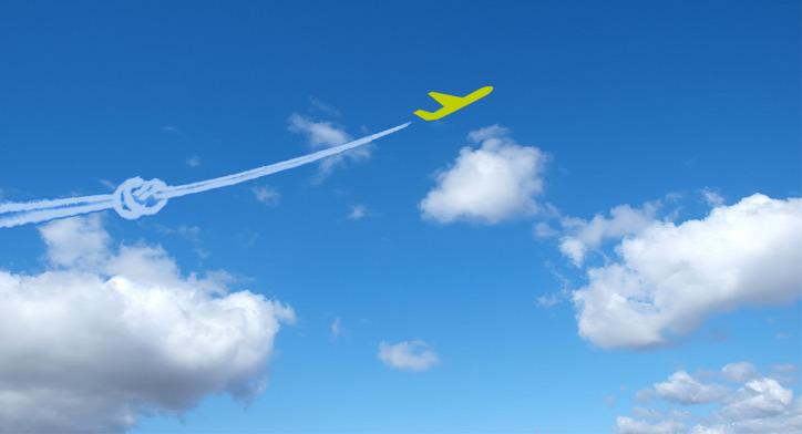 légszennyezés környezetszennyezés CO2 szén-dioxid utazás repülés