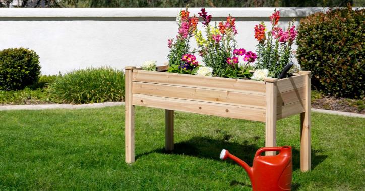 emelt ágyás barkácsolás kert otthon raklap újrahasznosítás