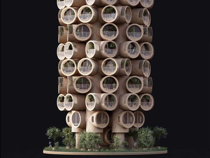 Bert ház moduláris faház fenntartható építészet