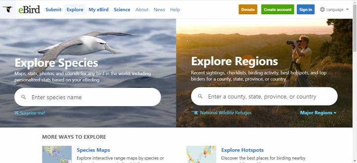 madárvonulás interaktív térkép eBird EuroBirdPortal
