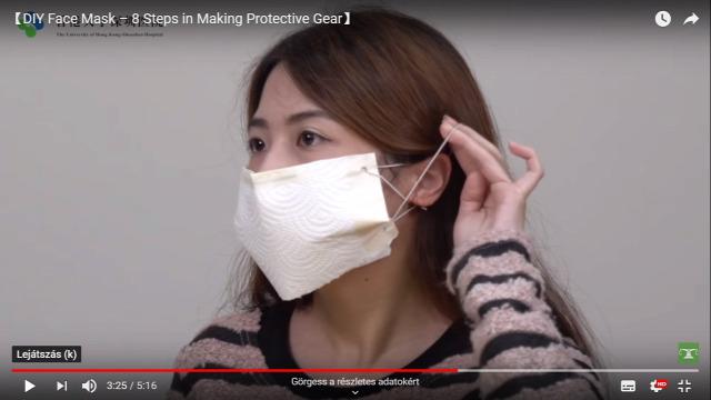 arcmaszk Hong Kong Egyetem koronavírus
