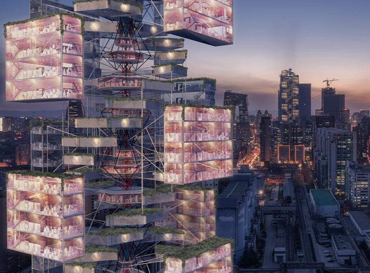 eVolo Skyscraper fenntartható építészet városi környezet urbanisztika újrahasznosítás