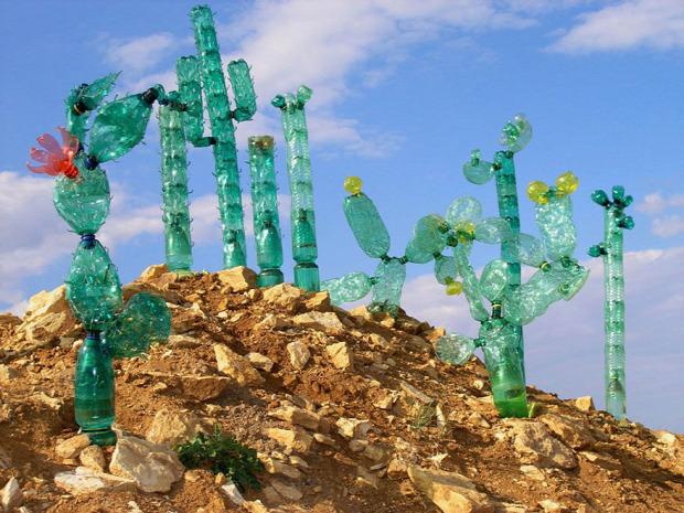 újrahasznosítás művészet PET-palack