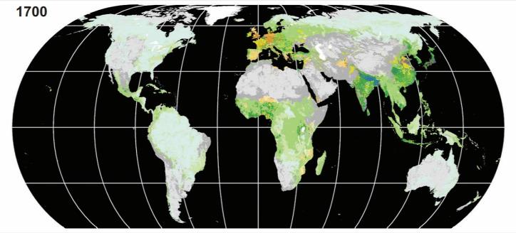 térkép urbanizáció mezőgazdaság