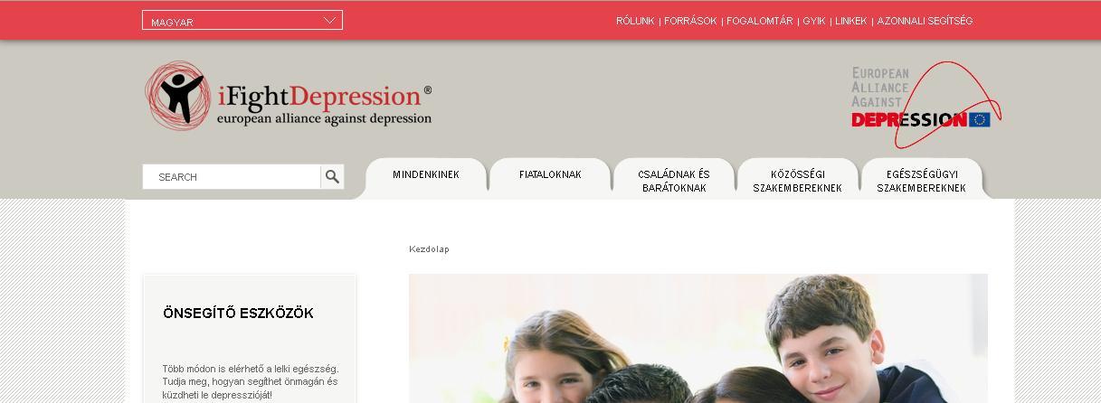 ifight depression depresszió online segítség kezelés antidepresszáns krízis