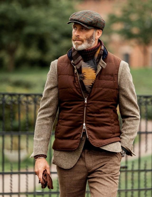 Téli ősz Férfi ruha Nadrágok Férfi nadrág Humor Bézs