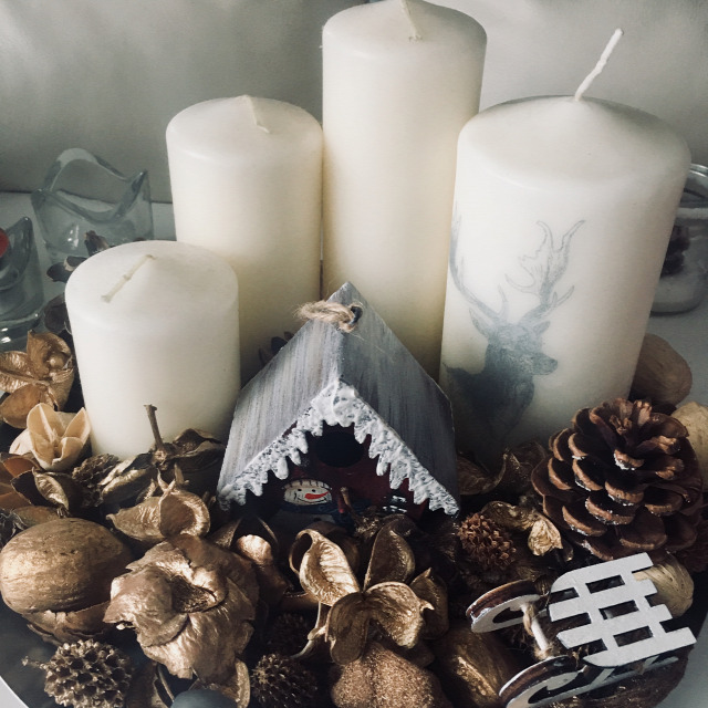 DIY karácsony ajándék gyorstipp gyertya