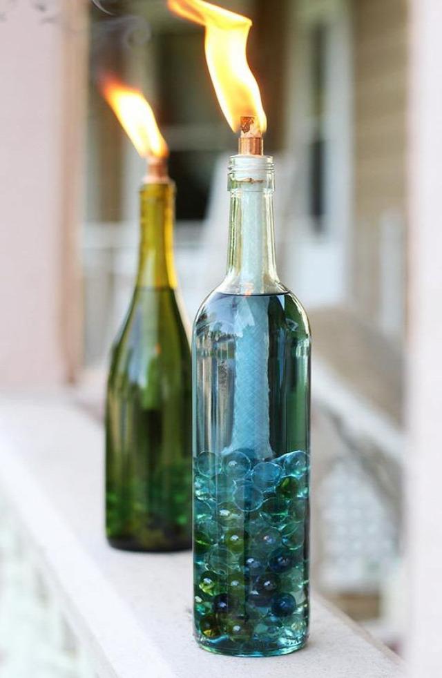 DIY újrahasznosítás üvegek szilveszter