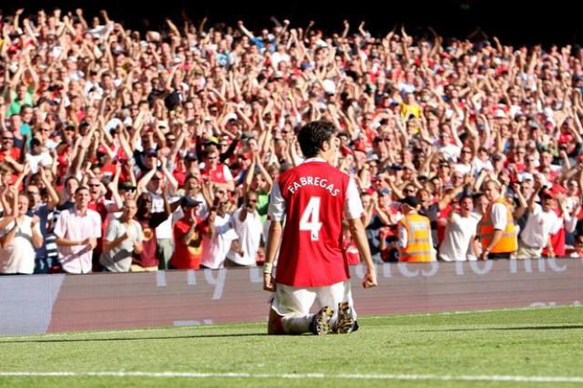 Arsenal Cesc Fabregas Arsene Wenger Peet besztlíg