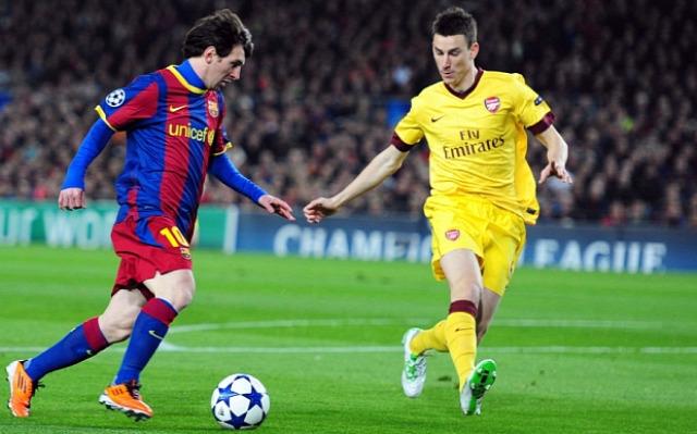 Arsenal Barcelona vendégposzt Bajnokok Ligája