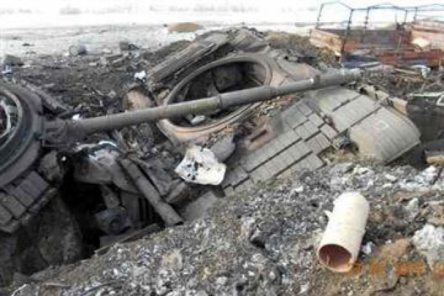 Ukrajna Debalcevó tankok